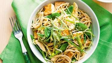 Creamy Soba Noodles Salad